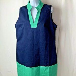 STS Sail To Sable Dress XL Navy Green NWT